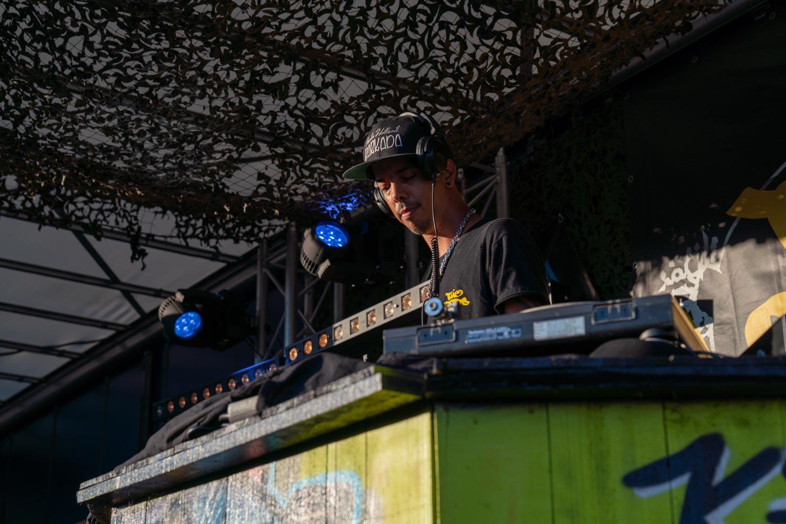 Huis DJ Skinny D bij de Graffiti Jam in 2019