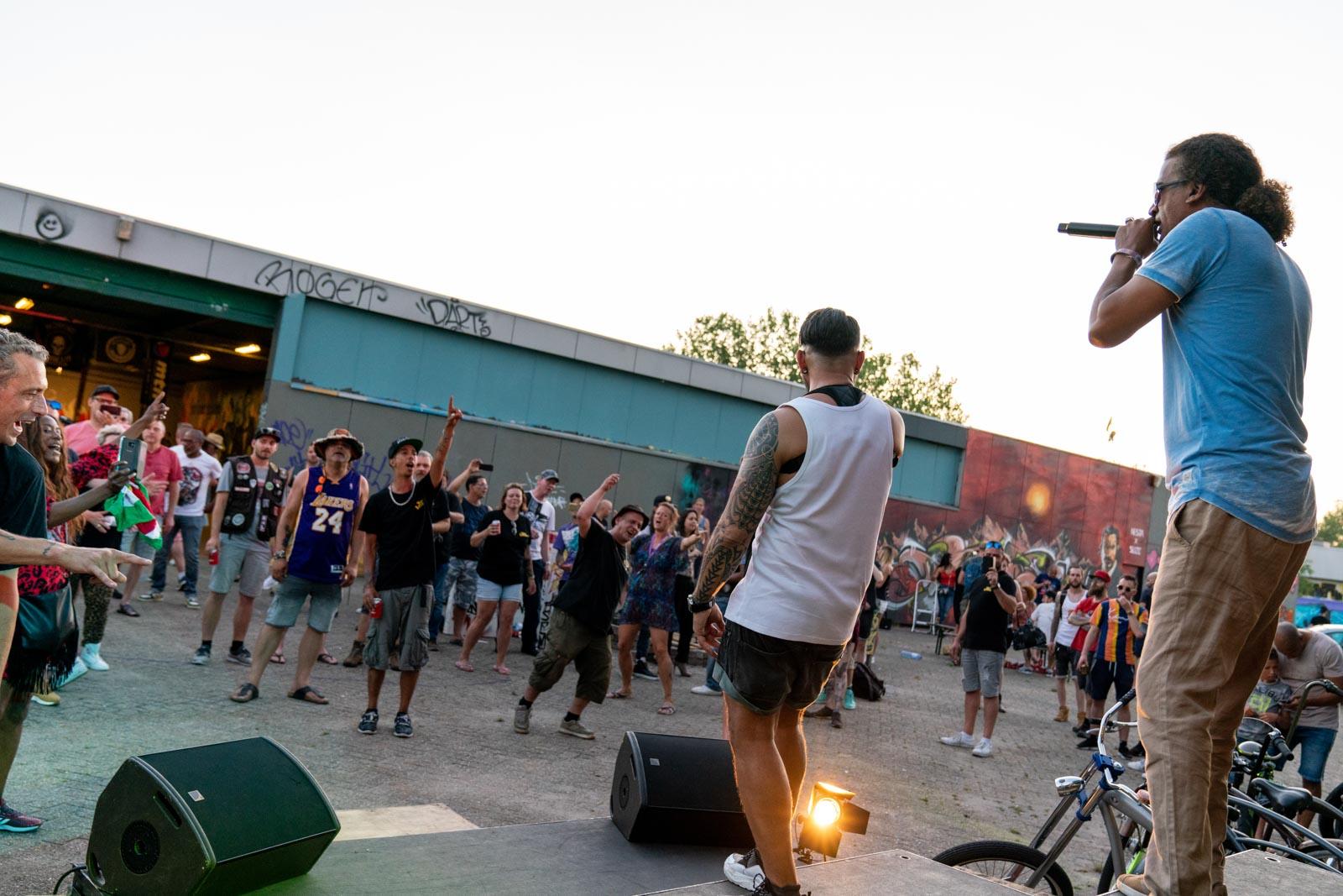 Optreden van King Bee bij de Graffiti Jam in 2019