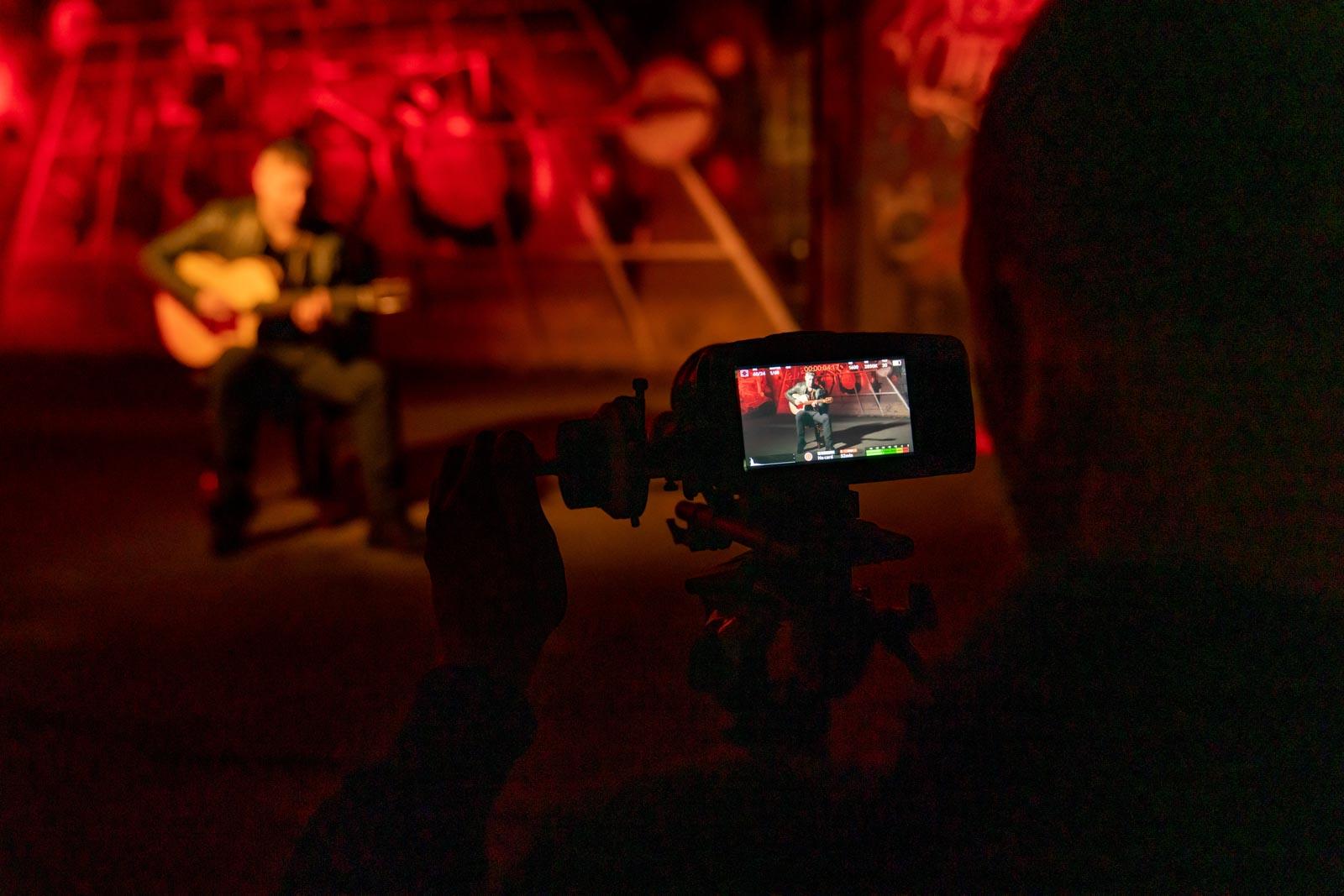 Video opnames in The Loods met Hieronimus